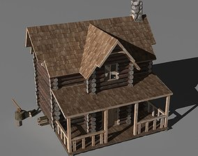 3D family Log cabin