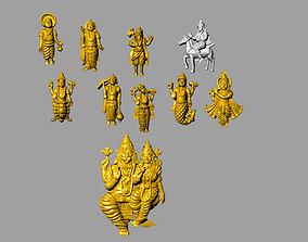 Ten avatars murti idol dash avatar lord 3D print model 1