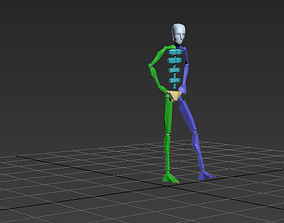 catwalk man 1 3D model animated rigged MAX FBX BVH