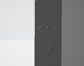 gabinete 3D print model Computador simples