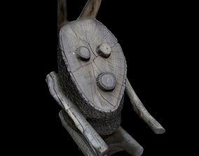 3D model Wooden Rabbit