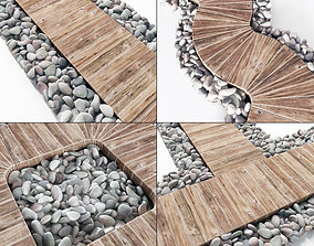 Board road pebble collection n1 3D model