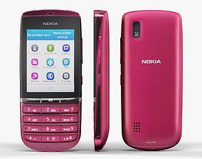 Nokia Asha 300 Pink 3D model VR / AR ready