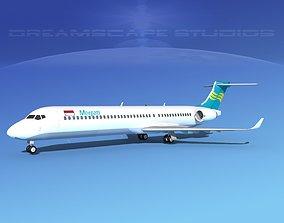 3D Comac ARJ21-900 Merpati Nusantara