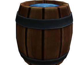 3D model Barrel and Toolbox