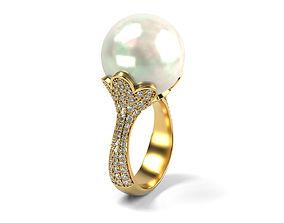 3D print model Big Pearl Ring