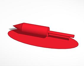 3D printable model firecracker