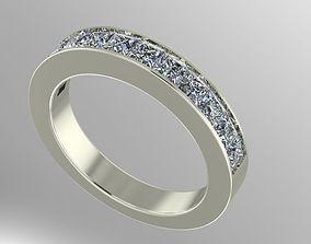 3D print model channel set wedding band