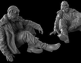 3D print model Modern Russian Tank crew 35 120 mm