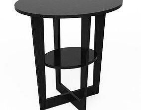 3D model Oval Walnut End Table Furinno