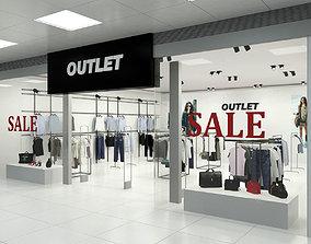 3D Fashion Store Outlet interior scene Render
