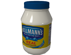 3D asset Mayonnaise Lowpoly Gameready