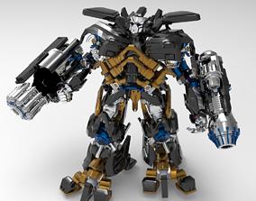 Robot transformer 3D model character