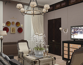 3D Colonial Style Liveroom