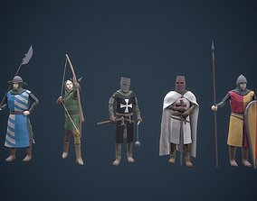 3D model Stylized Medieval Characters