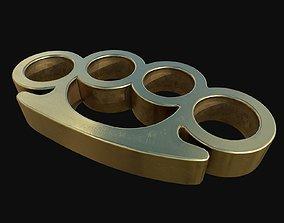 Gold Brass Knuckles 3D model