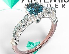 3D printable model Perfect Female Jeweled Ring Lulerias 1