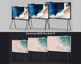 3D Samsung QLED The Serif TV 2019 black and