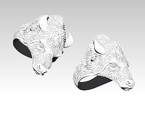 Bison ring 3D print model