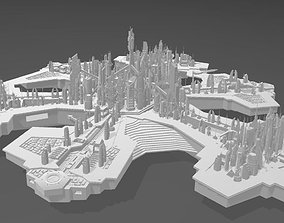 City of Atlantis High-Poly 3D print model