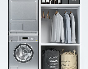 3D model Laundry with Miele machines