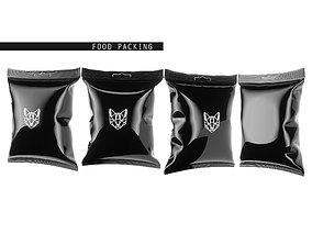 food packaging template 3D