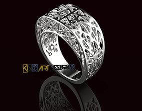 jewelry 3D printable model Anello Fascione Traforato