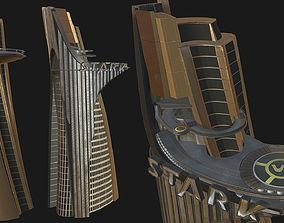 Stark Tower - Game mesh 3D asset