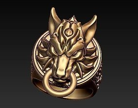 3D print model wolf ring final fantasy