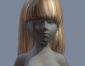 3D asset beauty hair 18