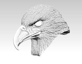 Eagle hawk falcon bird head bust 3D printable model