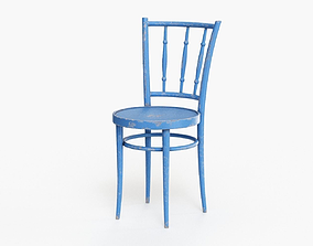 Old Wooden Chair 3D model