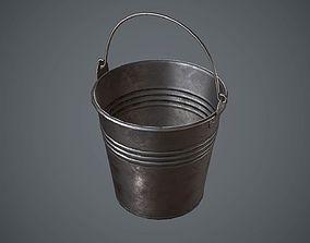 Bucket Steel 3D asset