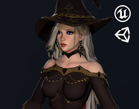 Witch Girl - Game Ready Character 3D model rigged