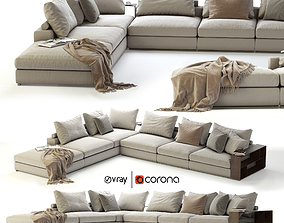 3D model Flexform Groundpiece Sectional Sofa