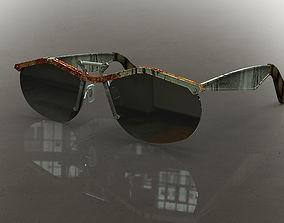 3D Steampunk wayfarer sunglasses