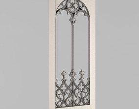 3D print model Carved door