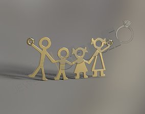 Family fashion pendant 3d model