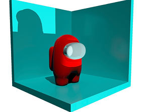 VR / AR ready Among Us character model