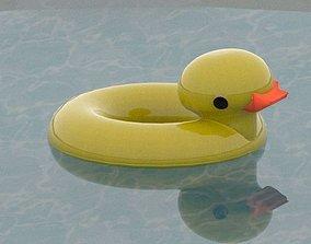Rubber Ducky Pool Float 3D