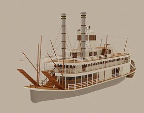 riverboat 3D Paddle Steamer River Boat