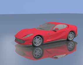 3D model rigged Ferrari 812 superfast