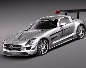 Mercedes Benz SLS AMG GT3 3D