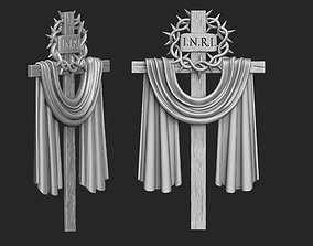 Cross with a Crown of Thorns 3D printable model