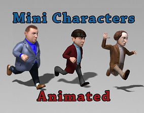 Mini Characters Pack 3D asset