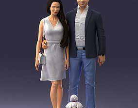 Couple with dog 1123 3D Print Ready