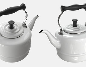 3D asset VR / AR ready Teapot kitchenware