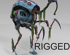 heron robot sci fi 3D
