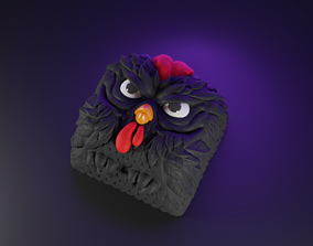 3D print model sculpture Rooster Keycap