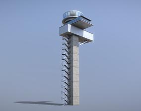 3D asset Airport Control Tower EDDF Lufthansa Tower 1